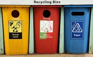 Cubos de separación de residuos