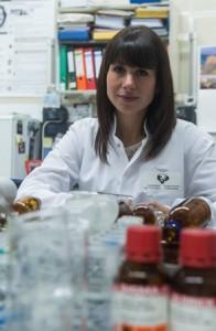 Itxaso San Román, investigadora del Departamento de Química Analítica de la UPV/EHU