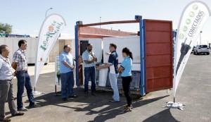 Un acto de la campaña Lanzarote Recicla