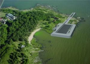 Recreación del proyecto del emisario subacuático que Aqualia construirá en Montevideo