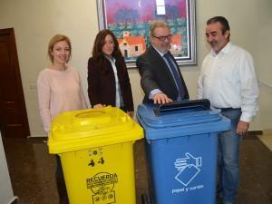Nuevos contenedores de reciclaje en los colegios de Nerja