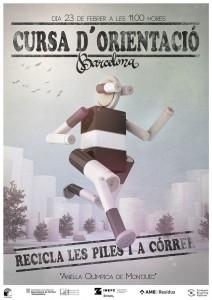 cartel de la carrera por el reciclaje de pilas