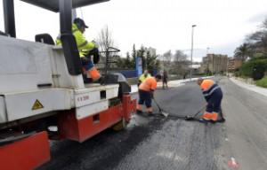 aplicación del asfalto ecológico