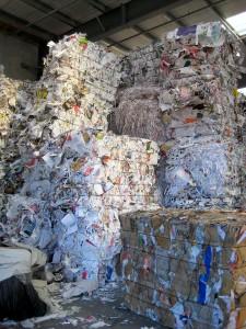 papel y cartón para su reciclaje