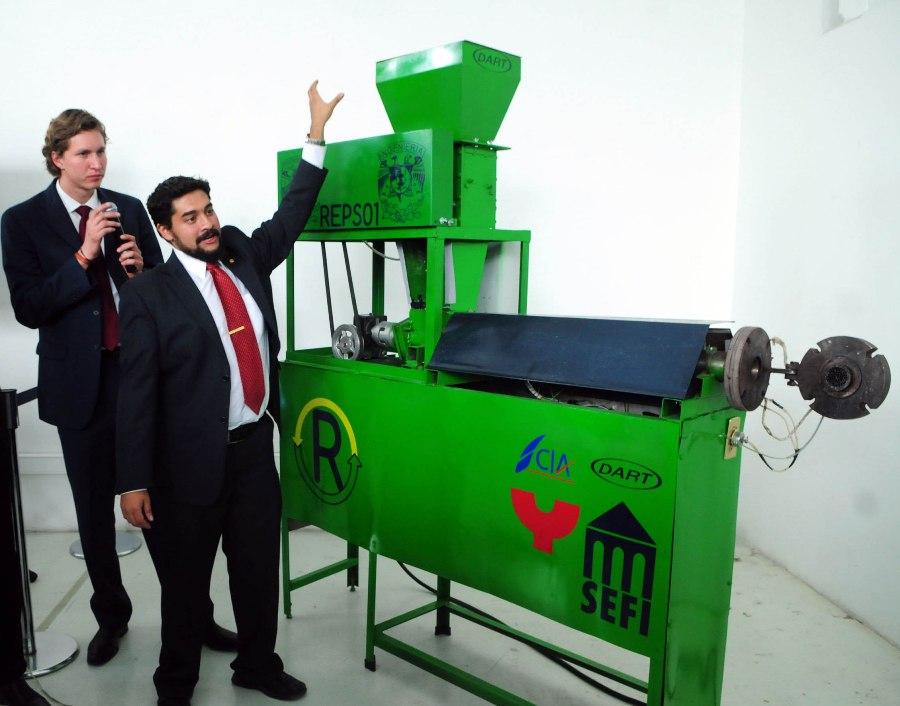 presentan la primera mquina de reciclaje de expandido fabricada en mxico