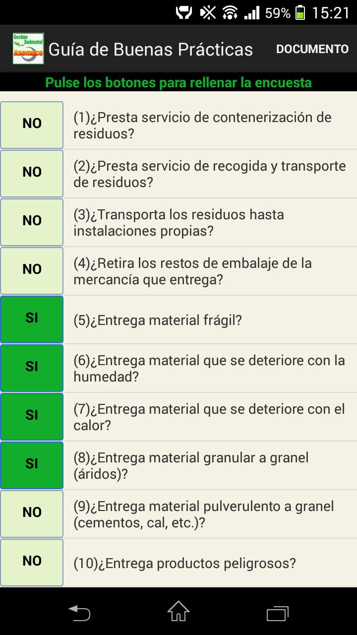 una app sobre buenas prácticas en gestión de residuos de construcción