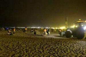 40 t de residuos en la noche de San Juan