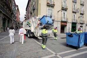 Aumenta la generación de residuos en Sanfermines