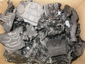 Reciclaje químico de suelas de zapatos