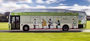 Bio-Bus, primer autobús del Reino Unido impulsado por biometano generado a partir de excrementos humanos