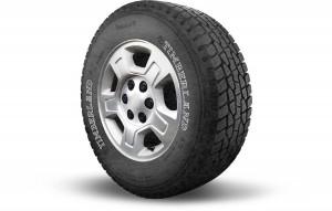Uno de los neumáticos Timberland
