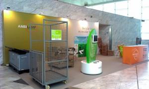 AMBILAMP expuso en su stand sus soluciones para el reciclaje de lámparas y luminarias