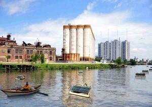 Una boya solar fotovoltaica que permite oxigenar ríos contaminados
