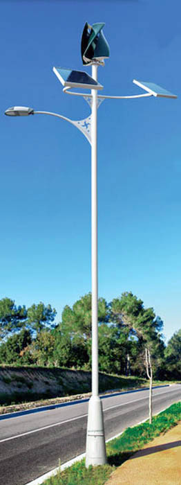 Primera farola para alumbrado público que funciona exclusivamente con energía solar y eólica