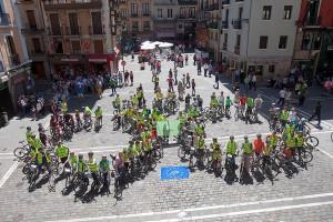 Arranca el proyecto LIFE+ RESPIRA, que evaluará la calidad del aire que inhalan los ciclistas en Pamplona