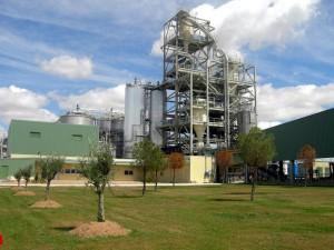 Planta de producción de etanol a partir de biomasa de Abengoa en Salamanca