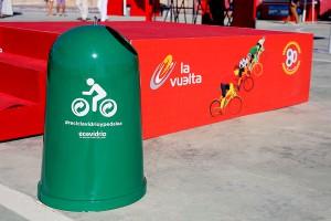 'Recicla vidrio y pedalea' se ha desarrollado de forma conjunta por Ecovidrio y la Vuelta Ciclista a España