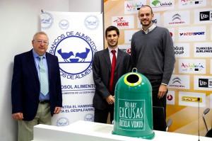 Ecovidrio donará un kg de alimentos por cada kg de vidrio reciclado por los aficionados del Unicaja Baloncesto