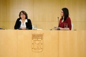 Inés Sabanés y Rita Maestre en rueda de prensa