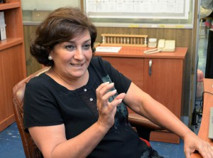 La investigadora Patricia Miranda Castro ha desarrollado un sistema de descontaminación de aguas residuales usando microesferas de quitosán