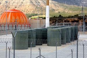 Contenedores de residuos radiactivos. Foto: Enresa