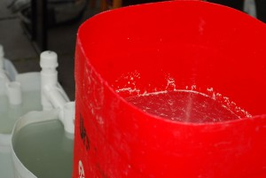Planta artesanal para reutilización de aguas grises