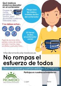 Cartel de la campaña de PROMEDIO