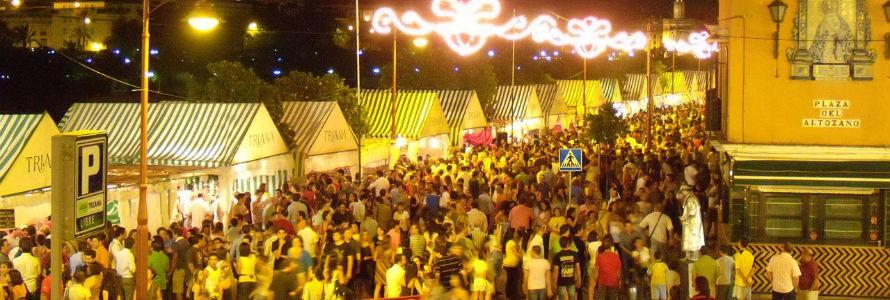 Sevilla recoge por primera vez los residuos de la Velá de Triana de forma selectiva
