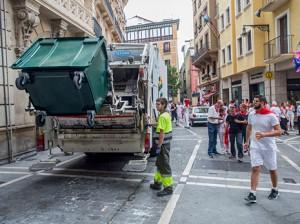 Los Sanfermines 2016 generaron mil toneladas de residuos