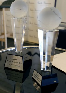 Los trofeos de la Senior Masters Cup serán de vidrio reciclado
