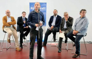 Carles Salesa, director del Consorcio de Residuos del Maresme y Chairman de RECUWATT, en la presentación del congreso