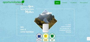 Portada de la web oportunidades para reciclar en Galicia
