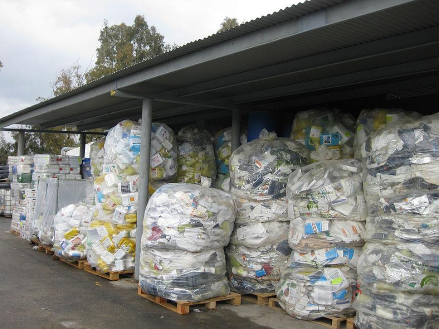 Recogida de envases agrícolas. Fotografía: Sigfito