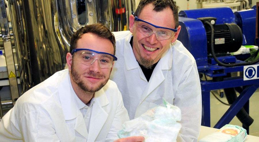 Desarrollan un proceso para reciclar los pañales desechables
