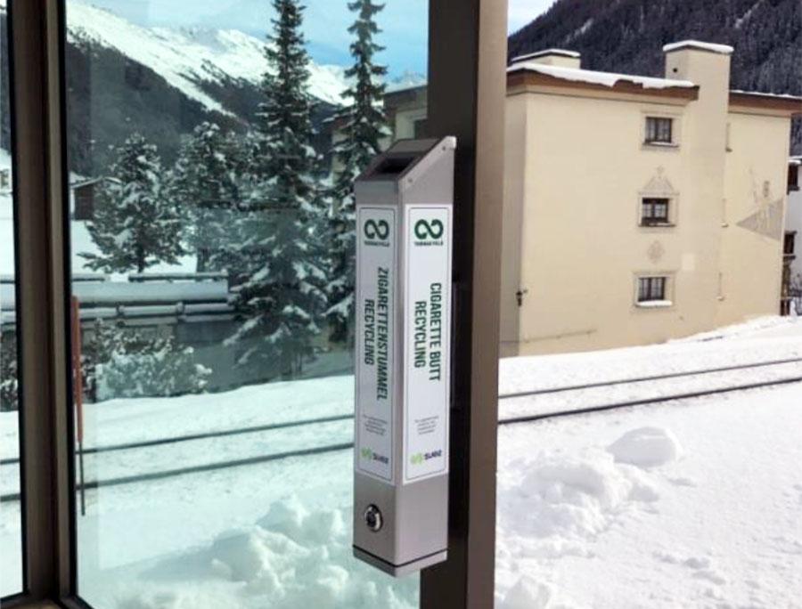 Davos ya recicla las colillas de cigarrillos