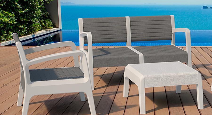 mobiliaro exterior de plástico reciclado