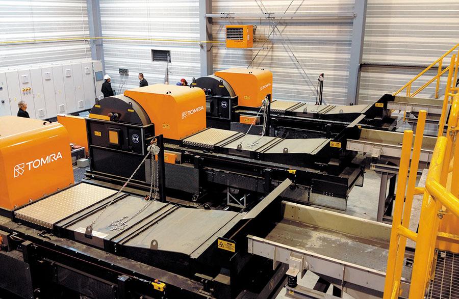 TOMRA cuenta con avanzados equipos de clasificación automática de metales