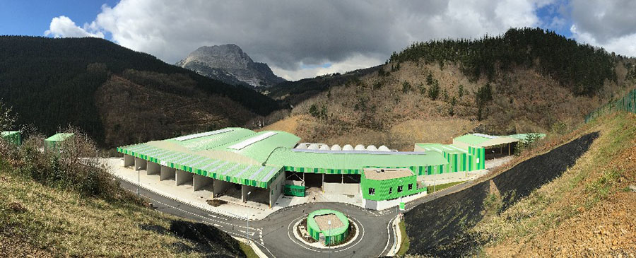 Panorámica de la planta de compostaje de Epele, en Gipuzkoa