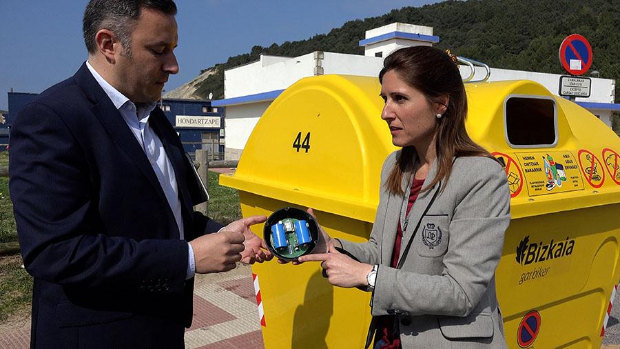 Bizkaia pone en marcha una prueba piloto con sensores en los contenedores de reciclaje