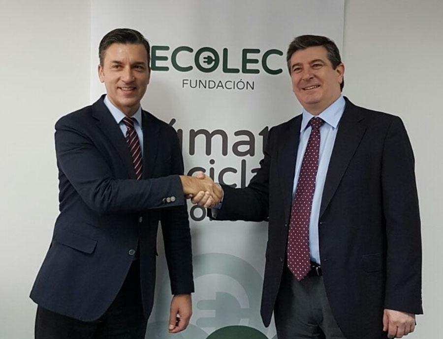 Ecolec y Acema renuevan su convenio de colaboración para la correcta gestión de residuos electrónicos