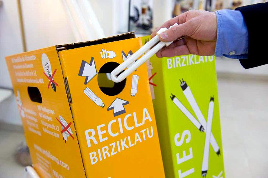 Ambilamp vuelve a aumentar la cantidad de residuos de iluminación recogidos para su reciclaje