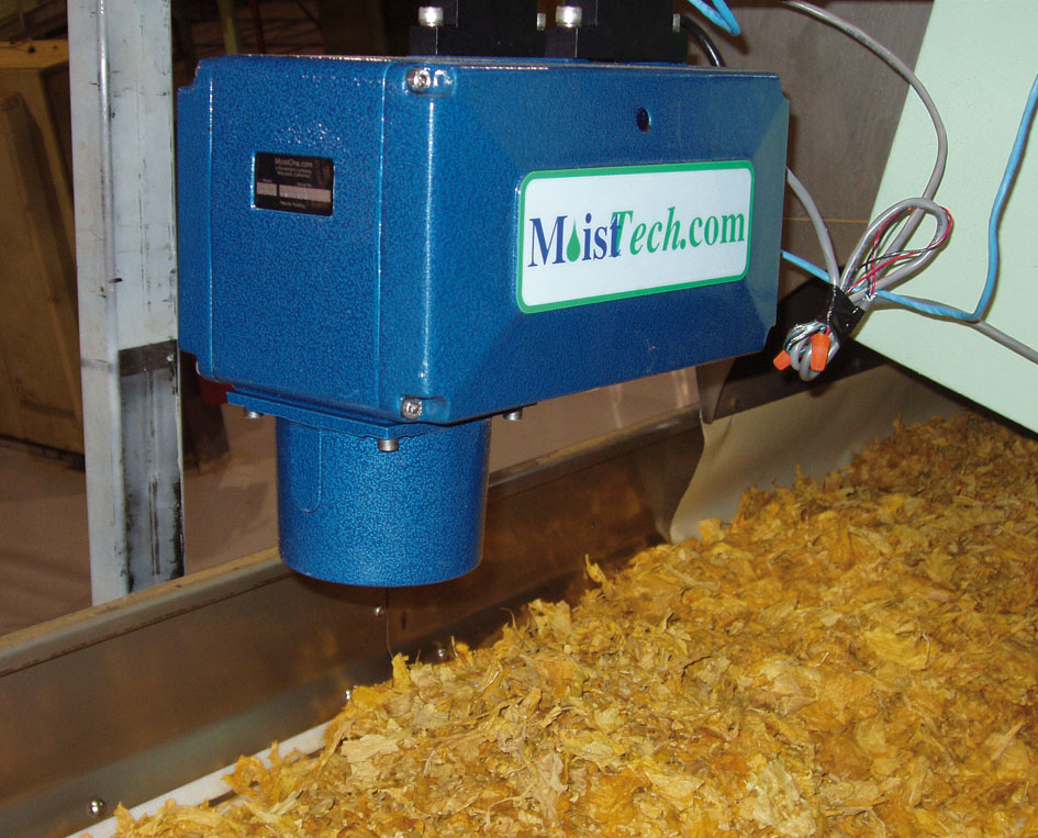 Medición en línea de humedad en biomasa