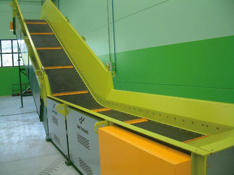 Cintas transportadoras para plantas de tratamiento de residuos