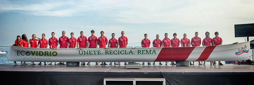 Ecovidrio asocia su patrocinio al Club de Remo de Santander con el compromiso de sus ciudadanos con el reciclaje