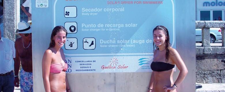 Primer secador para bañistas alimentado por energía solar