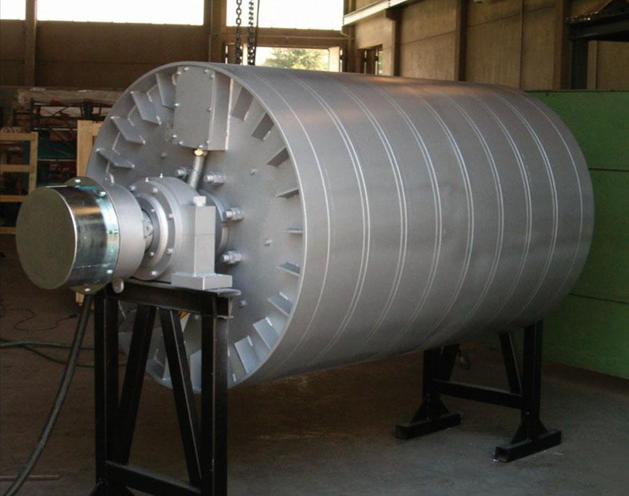Separación de metales mediante rodillo magnético