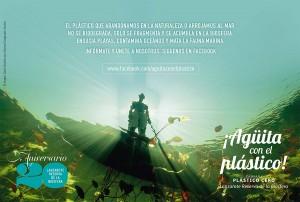 Imagen de la campaña 'Agüita con el plástico'
