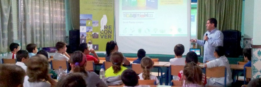 Medio millar de escolares malagueños aprenden sobre reciclaje