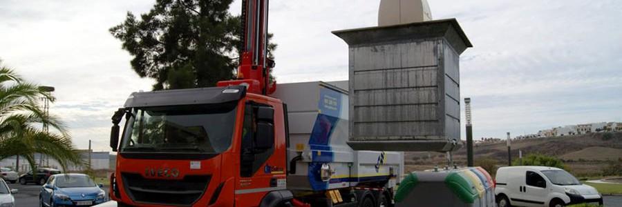 La provincia de Huelva refuerza el servicio de recogida de RSU con el sistema robotizado Easy