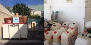 centro de recogida de residuos para empresas instaladoras de parquet
